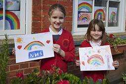 Brackenbury Pupils Create Messages of Love to NHS and Key Workers