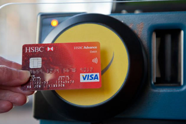 contactless card payment on london undergroun